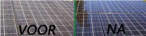 verschil zonnepanelen voor en na reiniging